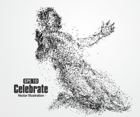 Particle composition athlete vector illustration 16