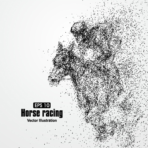 Particle composition athlete vector illustration 17