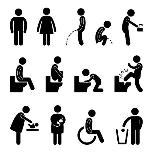 People Icon symbol vector set 01