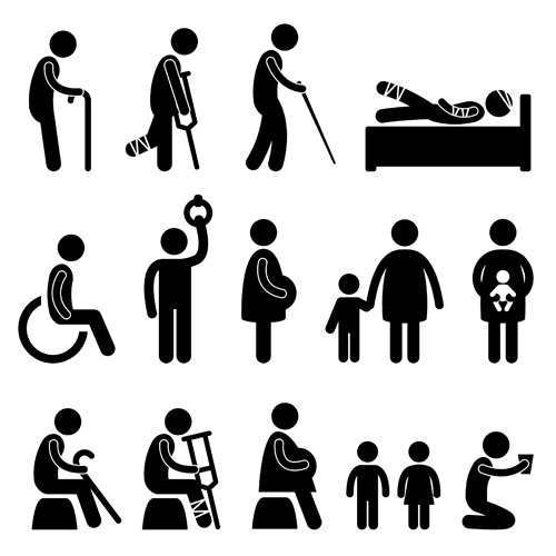People Icon Symbol Vector Set 02 Free Download
