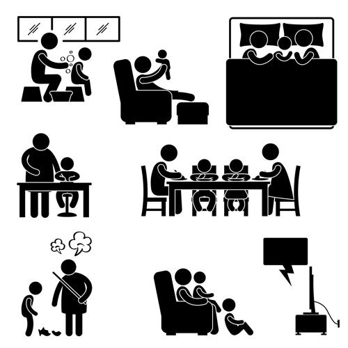 People Icon symbol vector set 05
