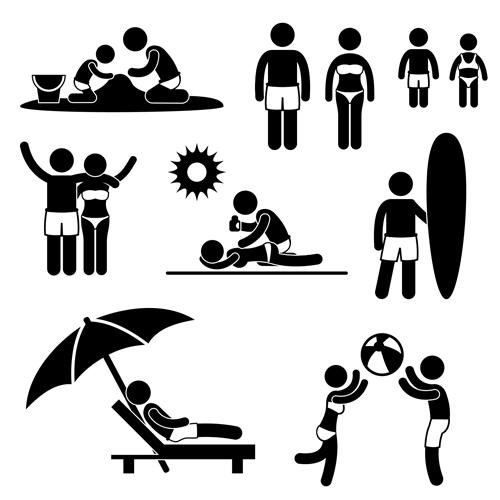 People Icon symbol vector set 06