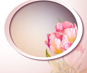 Pink flower hand drawn backgrounds vector 10