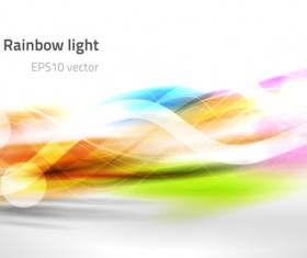 Ranbow light abstract vector background