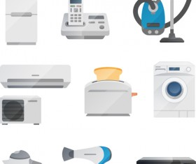Realistic home appliances vector set 02