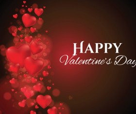 Red heart abstract valentines day background vector