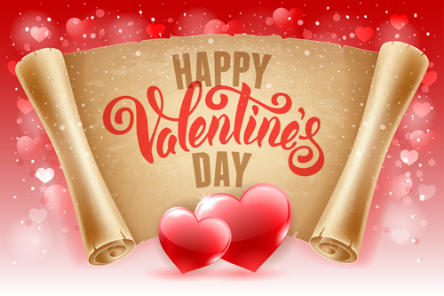 Romantic valentine day gift cards vector 04 Vector Heartshaped – Valentines Day Gift Card