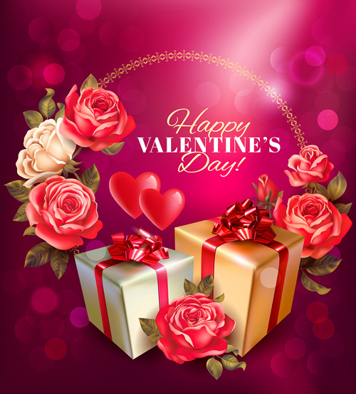 Romantic valentine day gift cards vector 05 Vector Heartshaped – Romantic Valentine Day Cards