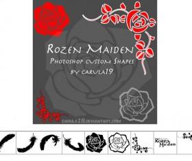 Rozen Maiden Photoshop cvstom shapes