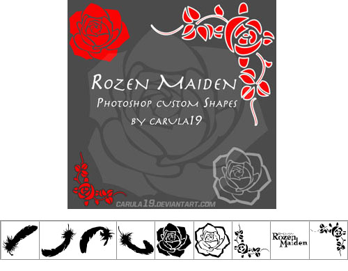 Rozen Maiden Photoshop cvstom shapes