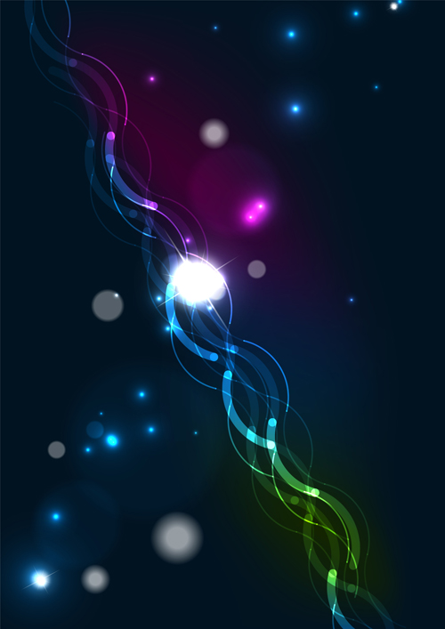 Shining Light dream background vector 06