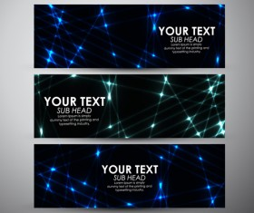 Shiny technology banners vector set 04