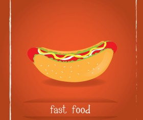 Simlpe fast food poster template vector 01