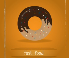 Simlpe fast food poster template vector 02