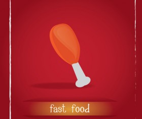 Simlpe fast food poster template vector 03