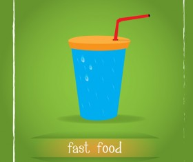 Simlpe fast food poster template vector 04