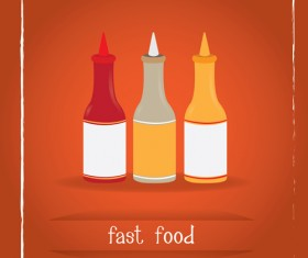 Simlpe fast food poster template vector 06