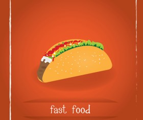 Simlpe fast food poster template vector 07