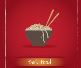 Simlpe fast food poster template vector 08