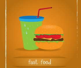 Simlpe fast food poster template vector 09