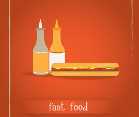 Simlpe fast food poster template vector 10