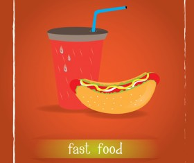 Simlpe fast food poster template vector 11