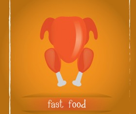 Simlpe fast food poster template vector 14