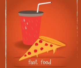 Simlpe fast food poster template vector 16