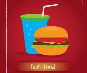 Simlpe fast food poster template vector 17