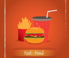 Simlpe fast food poster template vector 18