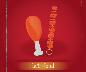 Simlpe fast food poster template vector 19