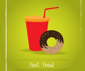 Simlpe fast food poster template vector 20