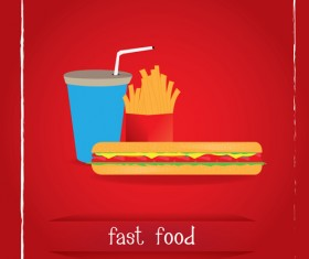 Simlpe fast food poster template vector 22