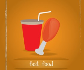 Simlpe fast food poster template vector 23