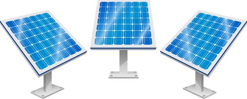 Solar panels vector material 02