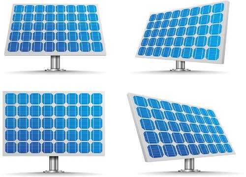 Solar panels vector material 03 free download