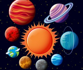 Solar system planets vector material 02