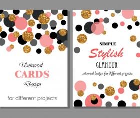 Stylish cards with ronud dot vector 01