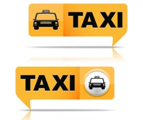 Taxi symbol design vector graphics 01