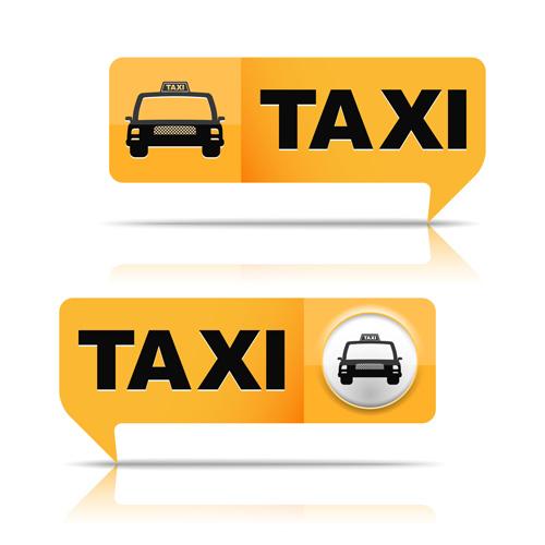 Taxi symbol design vector graphics 01 - Vector Car, Vector Logo ...
