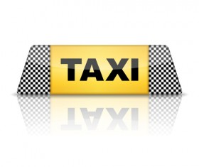 Taxi symbol design vector graphics 02