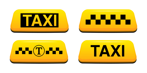 Taxi Symbol Design Vector Graphics 03 Free Download
