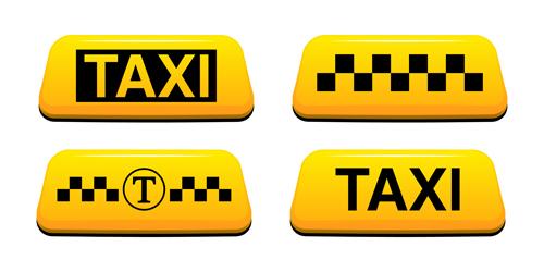 taxi symbol design vector graphics 03 vector car free. Black Bedroom Furniture Sets. Home Design Ideas