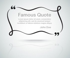 Text frames for quote vector 06