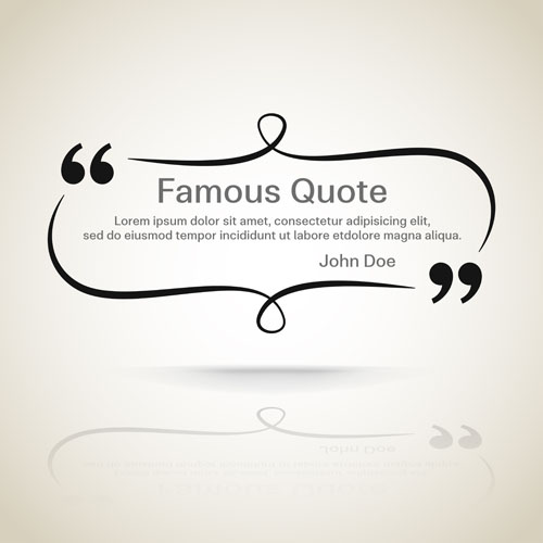 Vector Drawing Lines Quotes : Text frames for quote vector free download
