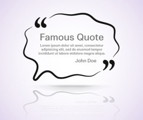 Text frames for quote vector 20
