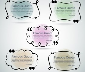 Text frames for quote vector 25