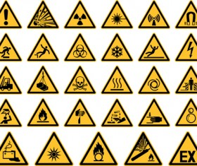 Triangle safety warning signs 02
