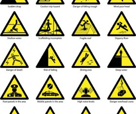 Triangle safety warning signs 03