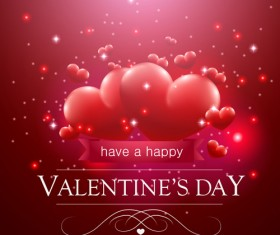 Valentine day red heart backgrounds art vector 05